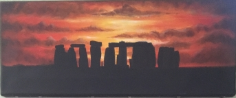 Stonehenge at sunset- sold