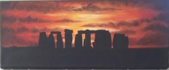 Stonehenge at sunset- sold